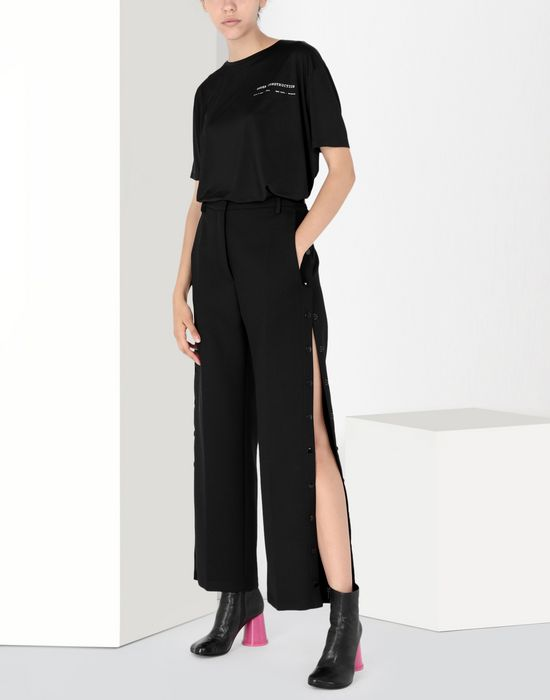 MM6 MAISON MARGIELA Hight-waisted trousers with side buttons Casual pants Woman r