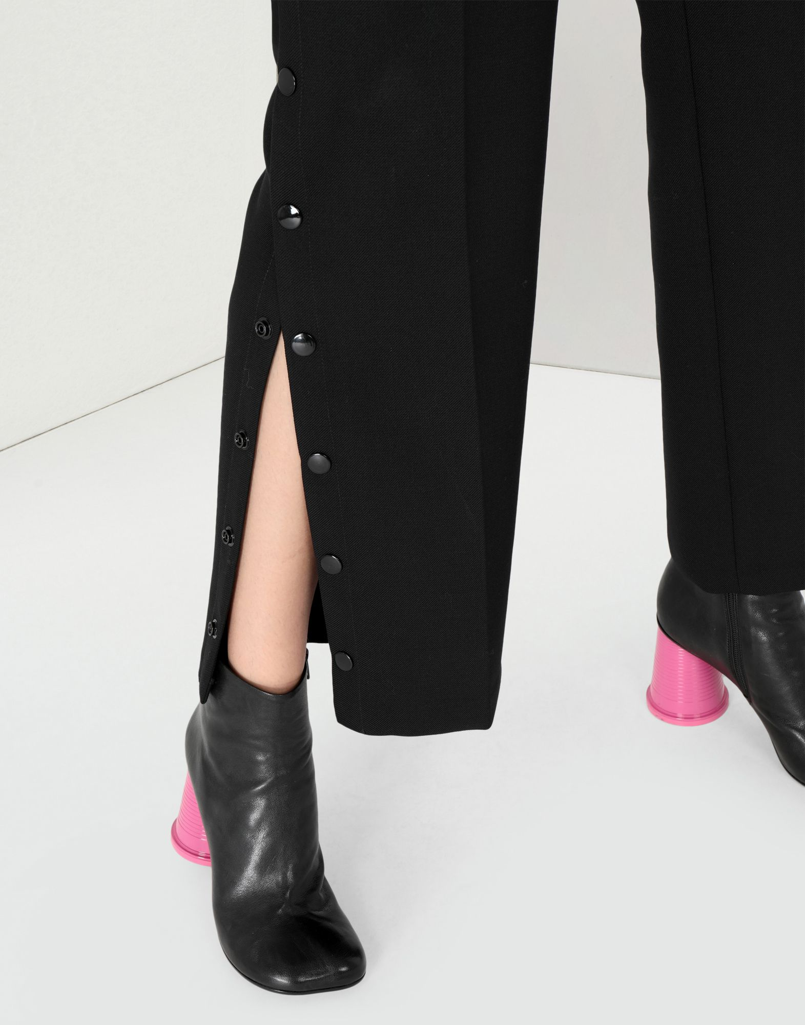 MM6 MAISON MARGIELA High waisted trousers with side buttons Casual pants Woman a