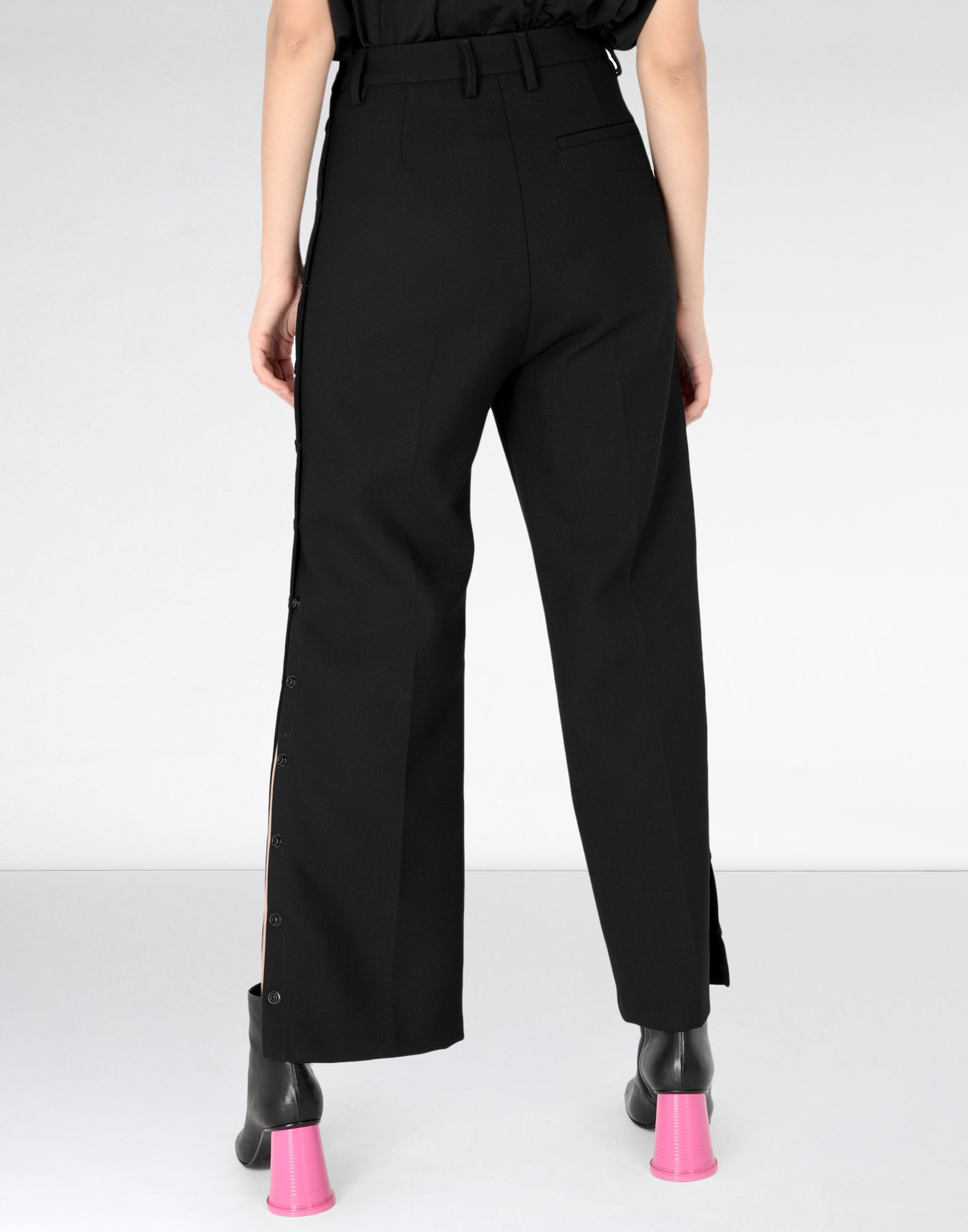 MM6 MAISON MARGIELA High waisted trousers with side buttons Casual pants Woman d