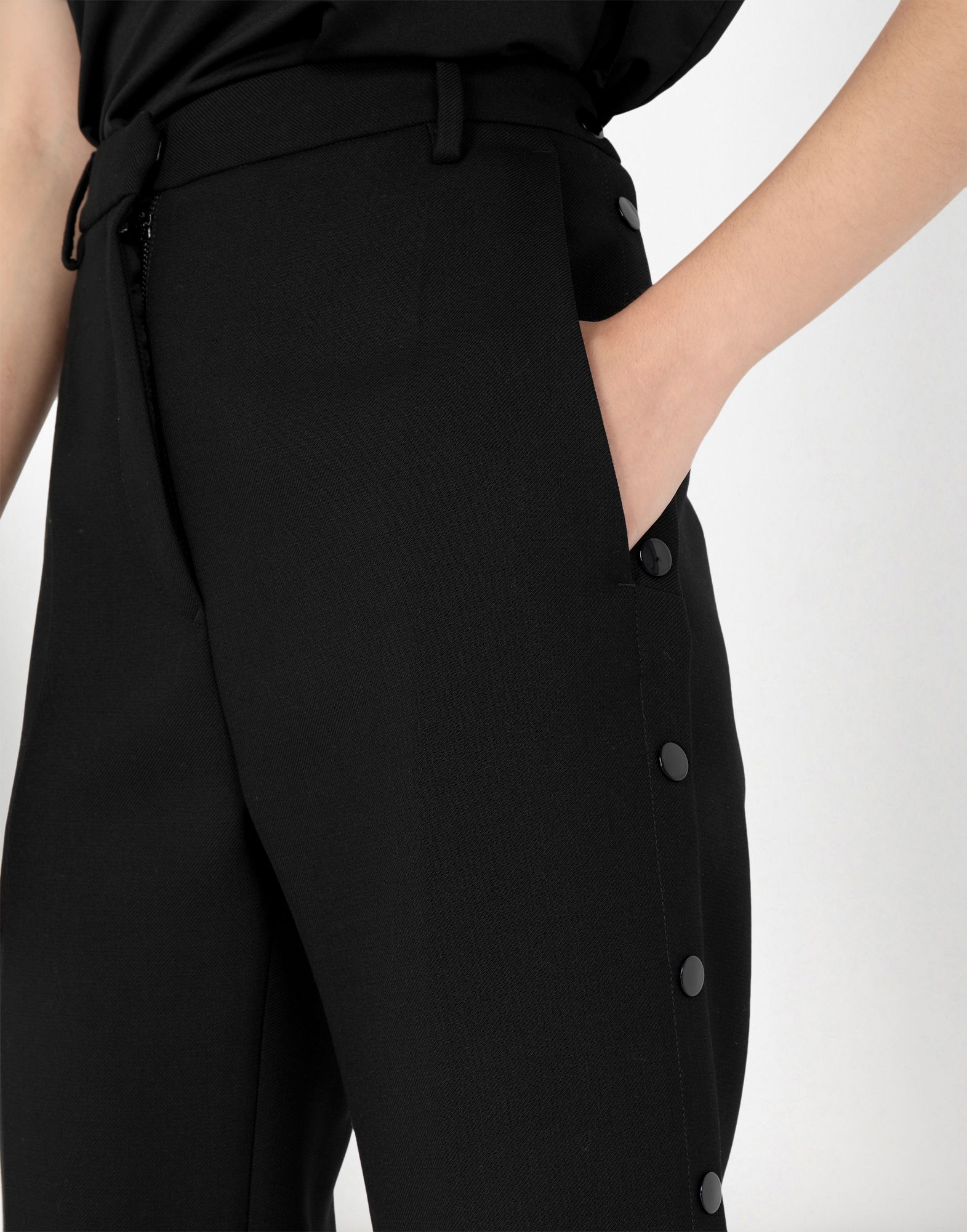 MM6 MAISON MARGIELA High waisted trousers with side buttons Casual pants Woman e