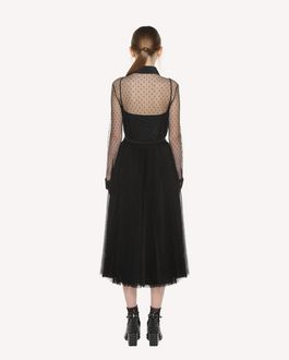 REDValentino Point d'esprit Tulle pleated skirt
