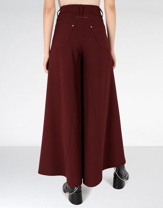 MM6 MAISON MARGIELA Flared jersey trousers Trousers Woman d