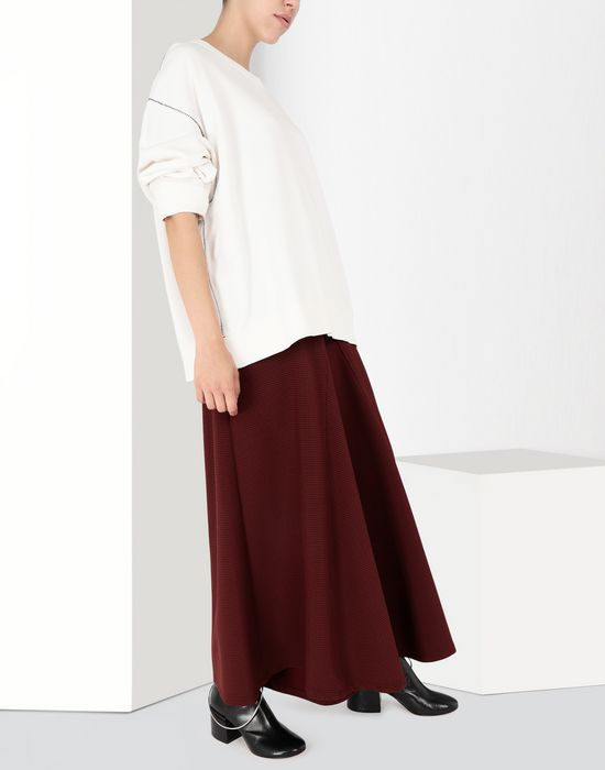 MM6 MAISON MARGIELA Flared jersey trousers Trousers Woman r