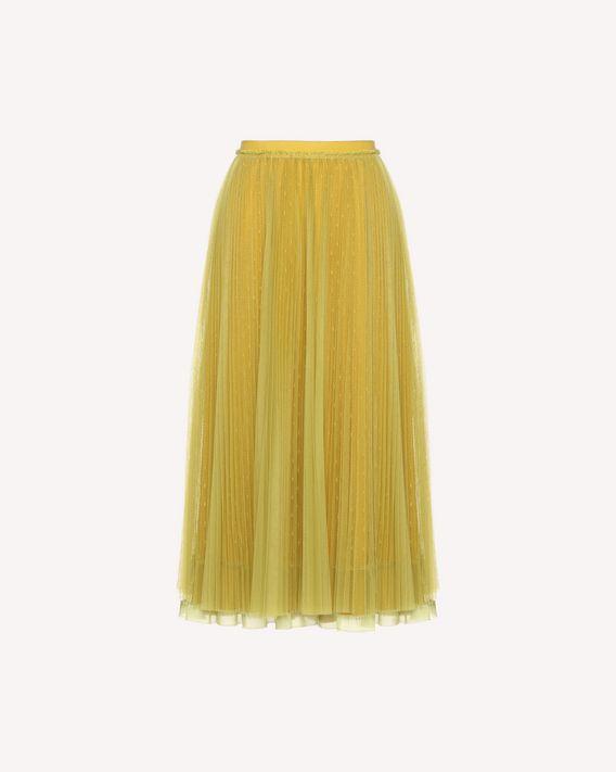 3c6e739ca8 REDValentino Point D'esprit Tulle Pleated Skirt - Skirt for Women ...