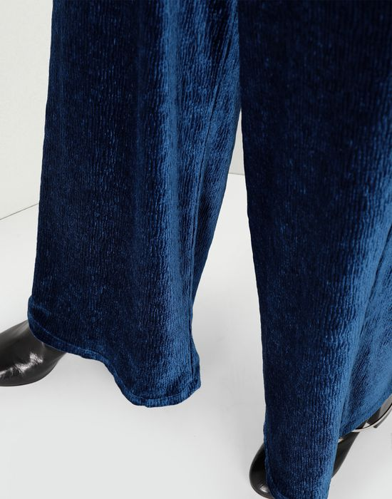 MM6 MAISON MARGIELA Flared suit trousers in velvet Casual pants [*** pickupInStoreShipping_info ***] a