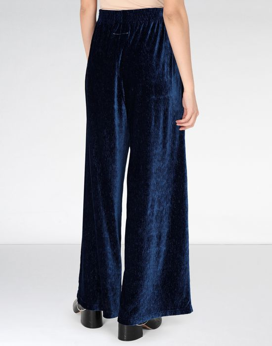 MM6 MAISON MARGIELA Flared suit trousers in velvet Casual pants [*** pickupInStoreShipping_info ***] d