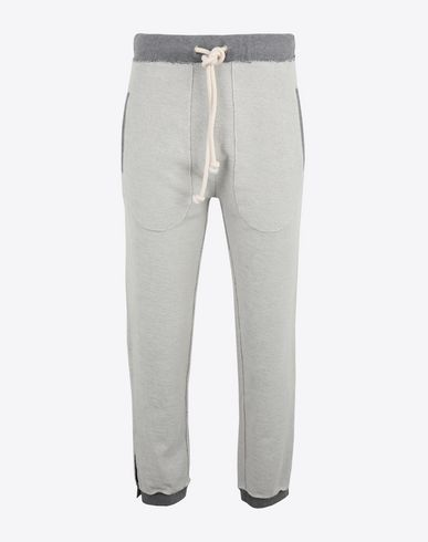 MAISON MARGIELA Trousers Man Contrasted cotton sweat pants f