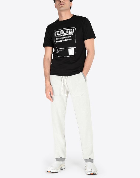 MAISON MARGIELA Contrasted cotton sweatpants Casual pants [*** pickupInStoreShippingNotGuaranteed_info ***] d