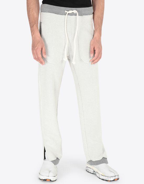 MAISON MARGIELA Contrasted cotton sweatpants Casual pants [*** pickupInStoreShippingNotGuaranteed_info ***] r