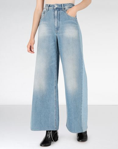 MM6 MAISON MARGIELA Jeans Woman Light 'garage' wash denim jeans f