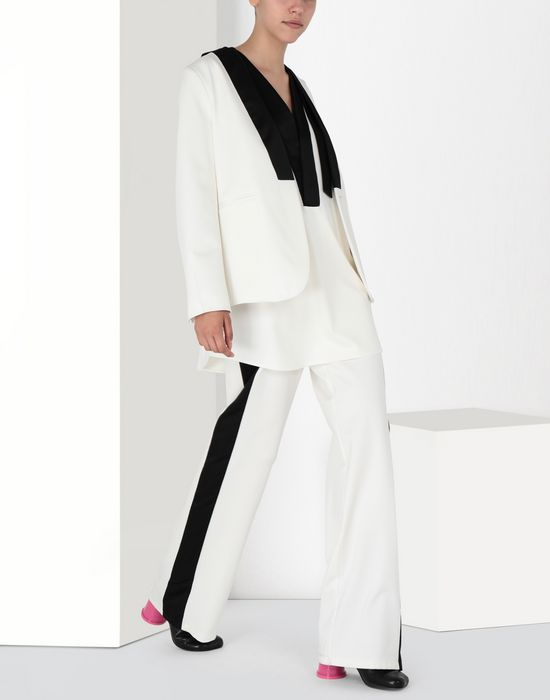 MM6 MAISON MARGIELA Suiting pants with edge stripes Casual pants [*** pickupInStoreShipping_info ***] r
