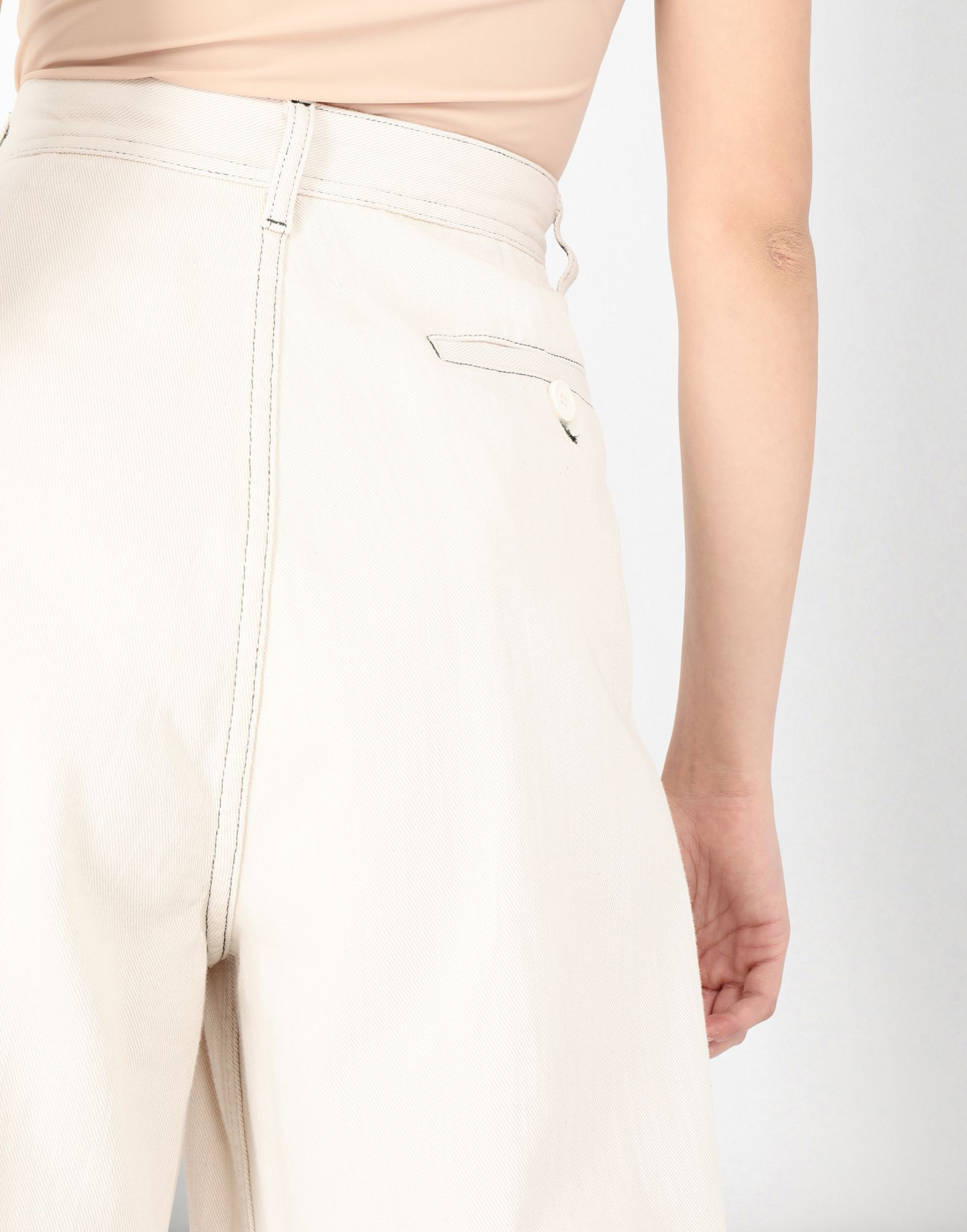 MM6 MAISON MARGIELA Flared cotton trousers Casual pants Woman a
