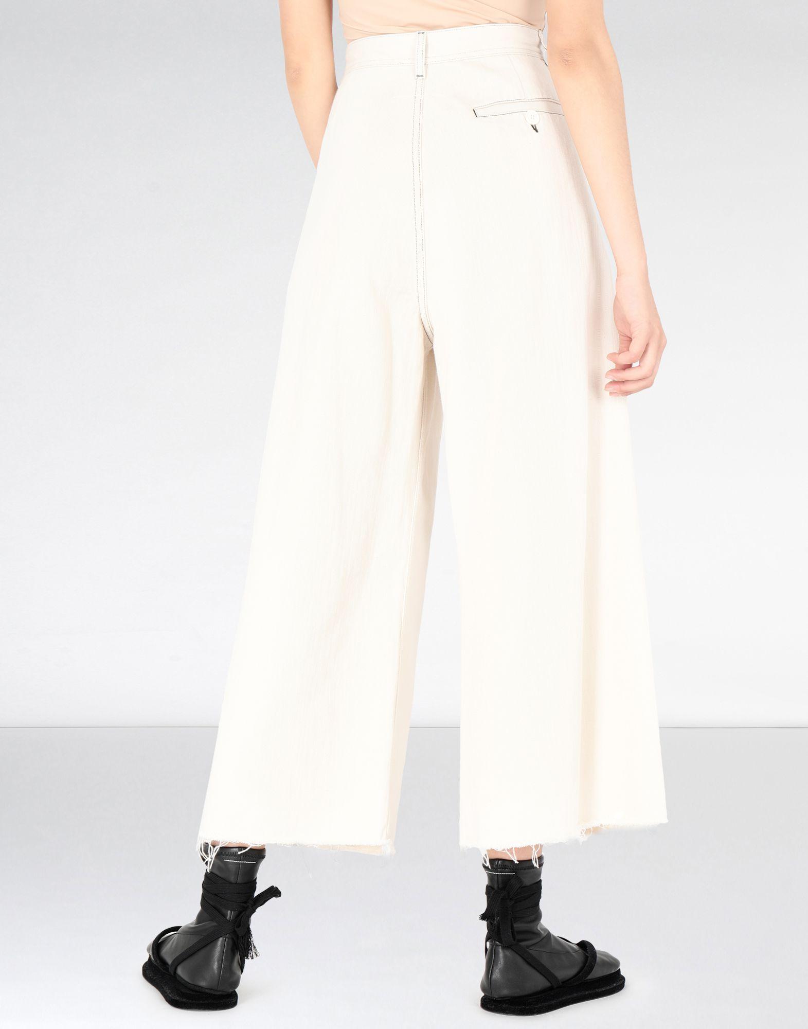 MM6 MAISON MARGIELA Flared cotton trousers Casual pants Woman d