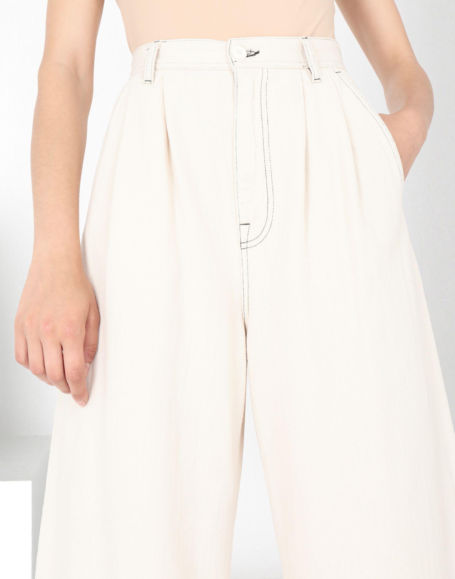 MM6 MAISON MARGIELA Flared cotton trousers Casual pants Woman e