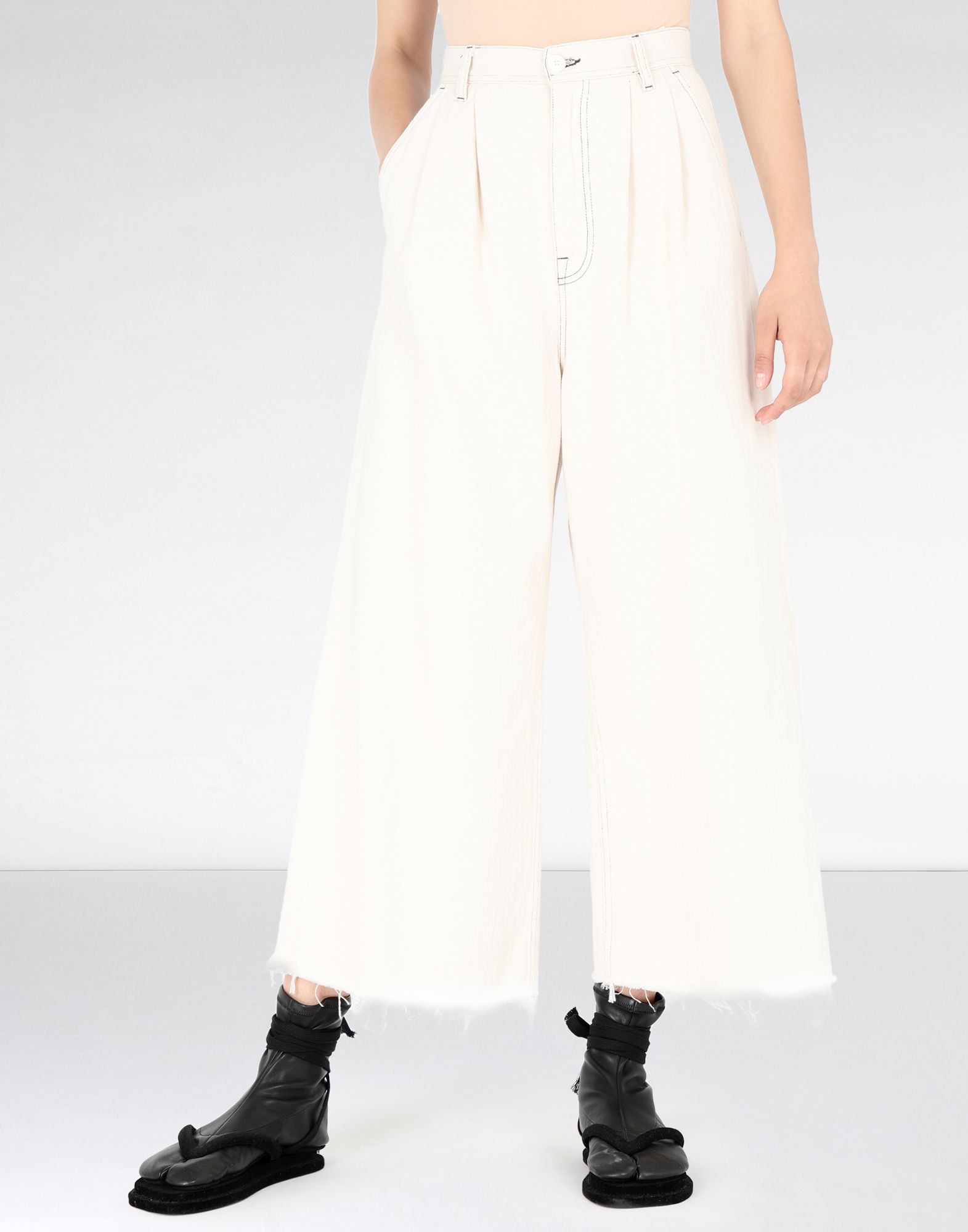 MM6 MAISON MARGIELA Flared cotton trousers Casual pants Woman f