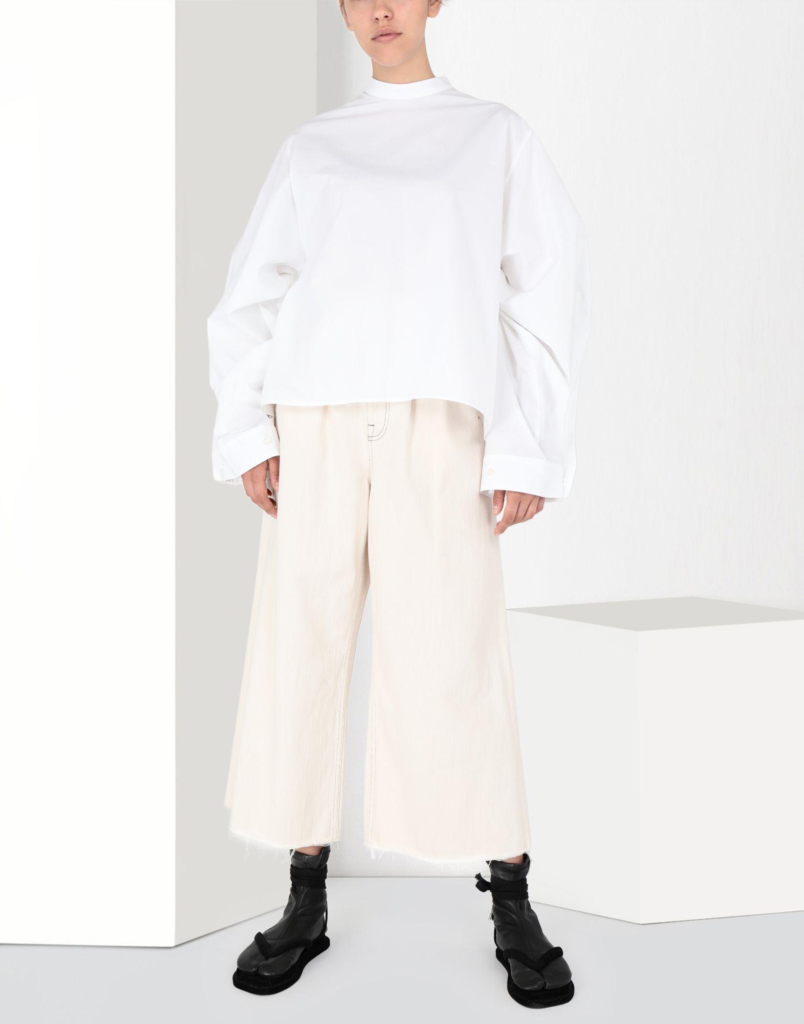 MM6 MAISON MARGIELA Flared cotton trousers Casual pants Woman r