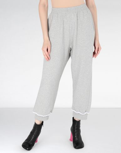 MM6 MAISON MARGIELA Trousers Woman Casual pompom jersey joggers f