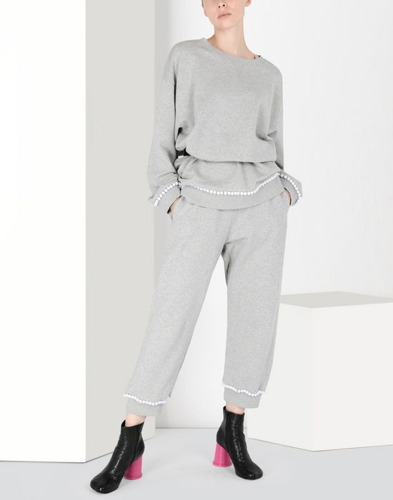 MM6 MAISON MARGIELA Casual pompom jersey joggers Casual pants [*** pickupInStoreShipping_info ***] r