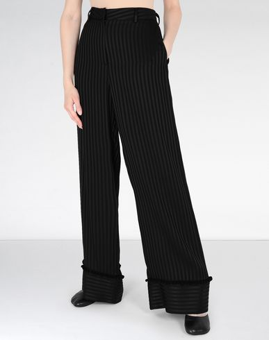 MM6 MAISON MARGIELA Trousers Woman Striped casual pompom pants f
