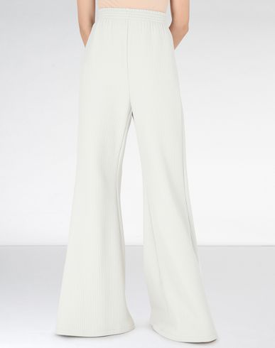 MM6 MAISON MARGIELA Trousers Woman Flared ribbed jersey pants f