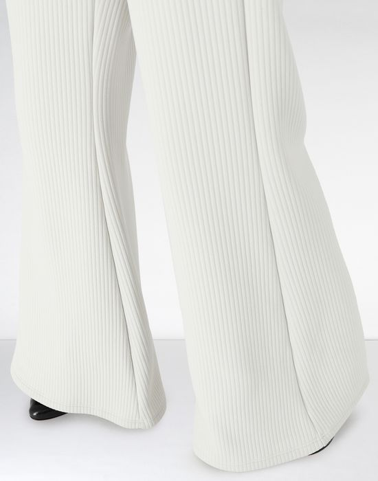 MM6 MAISON MARGIELA Flared ribbed jersey pants Casual pants [*** pickupInStoreShipping_info ***] a