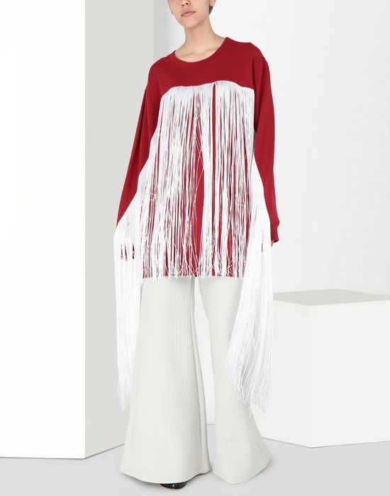 MM6 MAISON MARGIELA Flared ribbed jersey pants Casual pants [*** pickupInStoreShipping_info ***] r