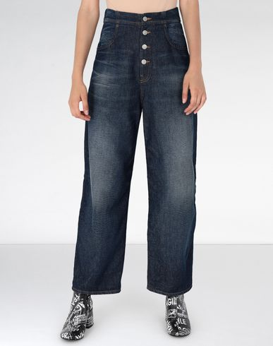 MM6 MAISON MARGIELA Jeans Woman Wide leg denim pants f