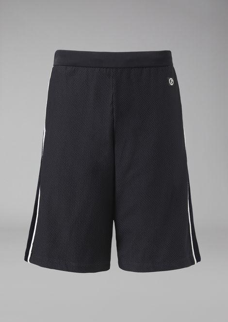 Bermuda shorts in embossed honeycomb jersey