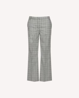 REDValentino Prince of Wales cropped flare pants