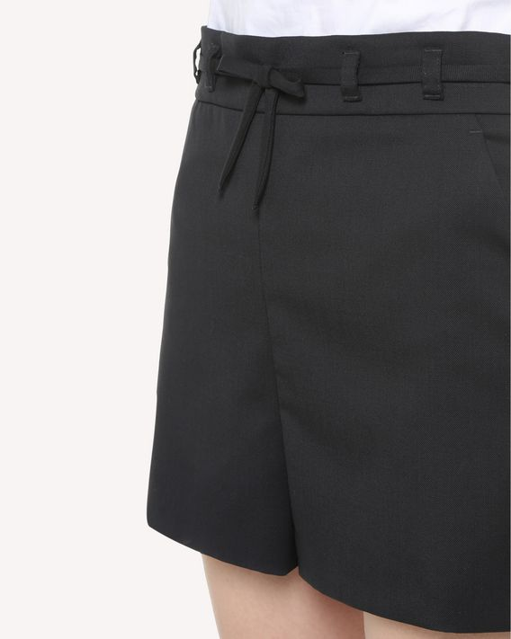 REDValentino Bow detail Stretch Wool Gabardine shorts