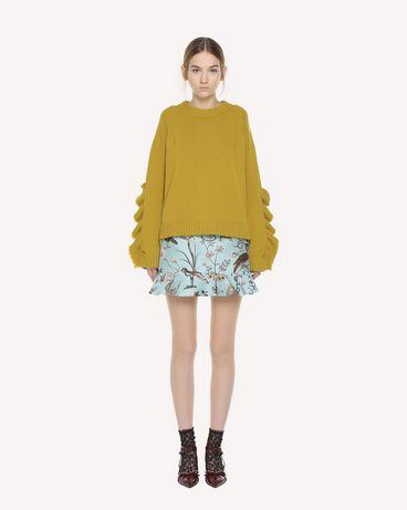 REDValentino Ruffle detailed Flora and Fauna brocade shorts