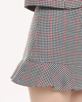 REDValentino Ruffle detail Windowpane shorts