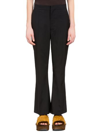 Marni Pants in tropical wool with pressed crease Woman