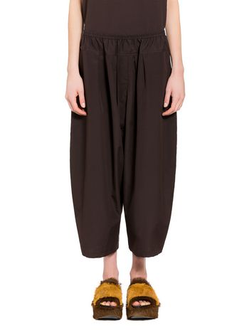 Marni Poplin cotton trousers with waist yoke Woman