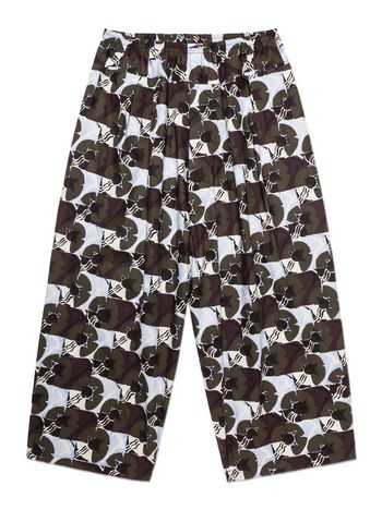 Marni Pants in poplin with Deco Flower print Woman