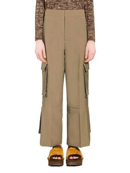 Marni Pants in tropical wool with slits Woman