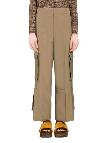 Marni Pantaloni in lana tropical con spacco Donna