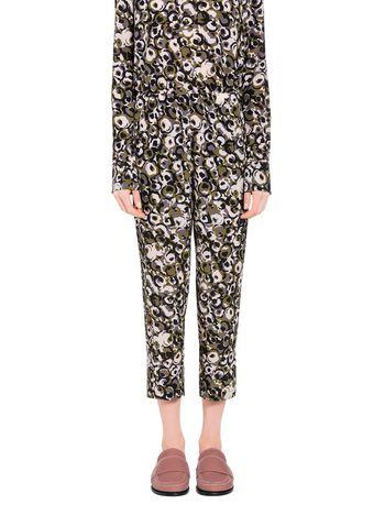Marni Pantaloni in crepe di seta stampa Marken Donna