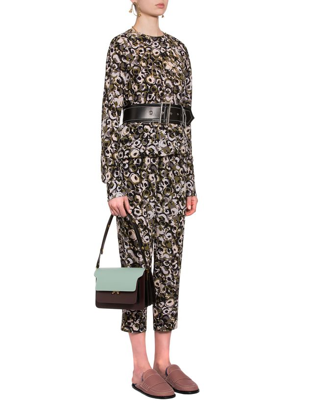 Marni Marken print pants in silk crepe  Woman - 4