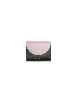 Marni Saffiano calfskin wallet black and pink Woman