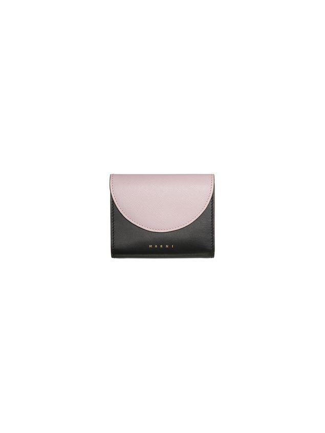 Marni Saffiano calfskin wallet black and pink Woman - 1