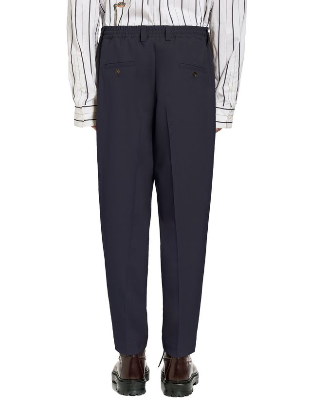 Marni Pants in tropical wool with elasticized waist Man