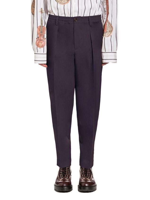 Marni Pants in tropical wool with elastic waist Man - 1