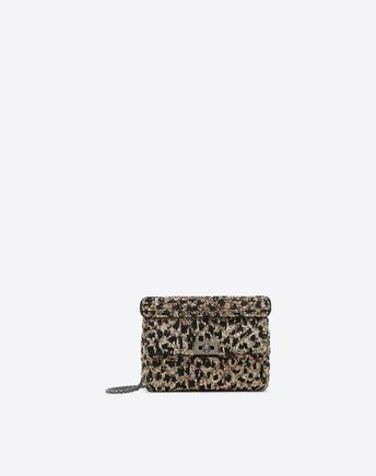 VALENTINO GARAVANI Shoulder bag D Medium Rockstud Spike Chain Bag f