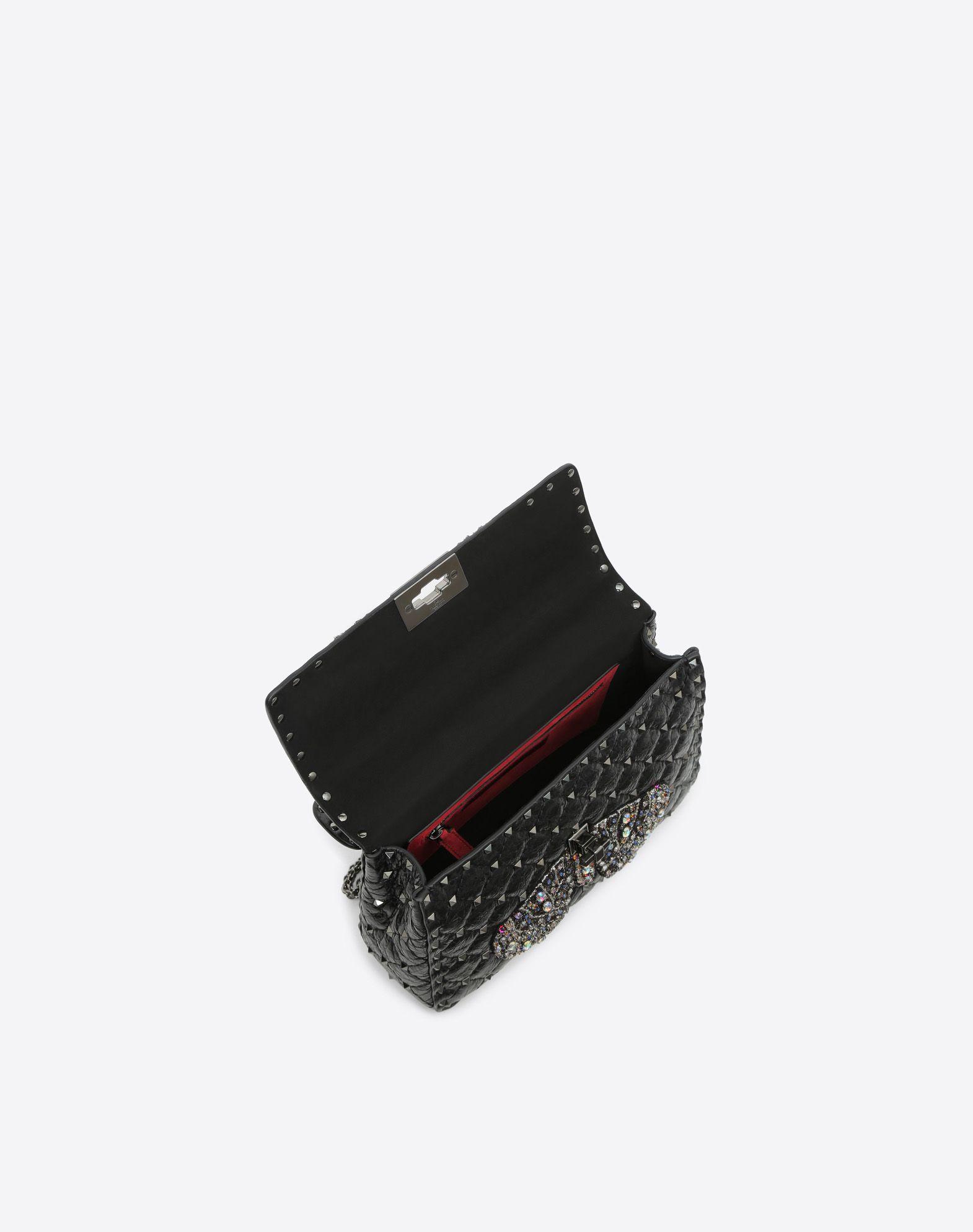 VALENTINO GARAVANI Medium Rockstud Spike Chain Bag  Shoulder bag D e