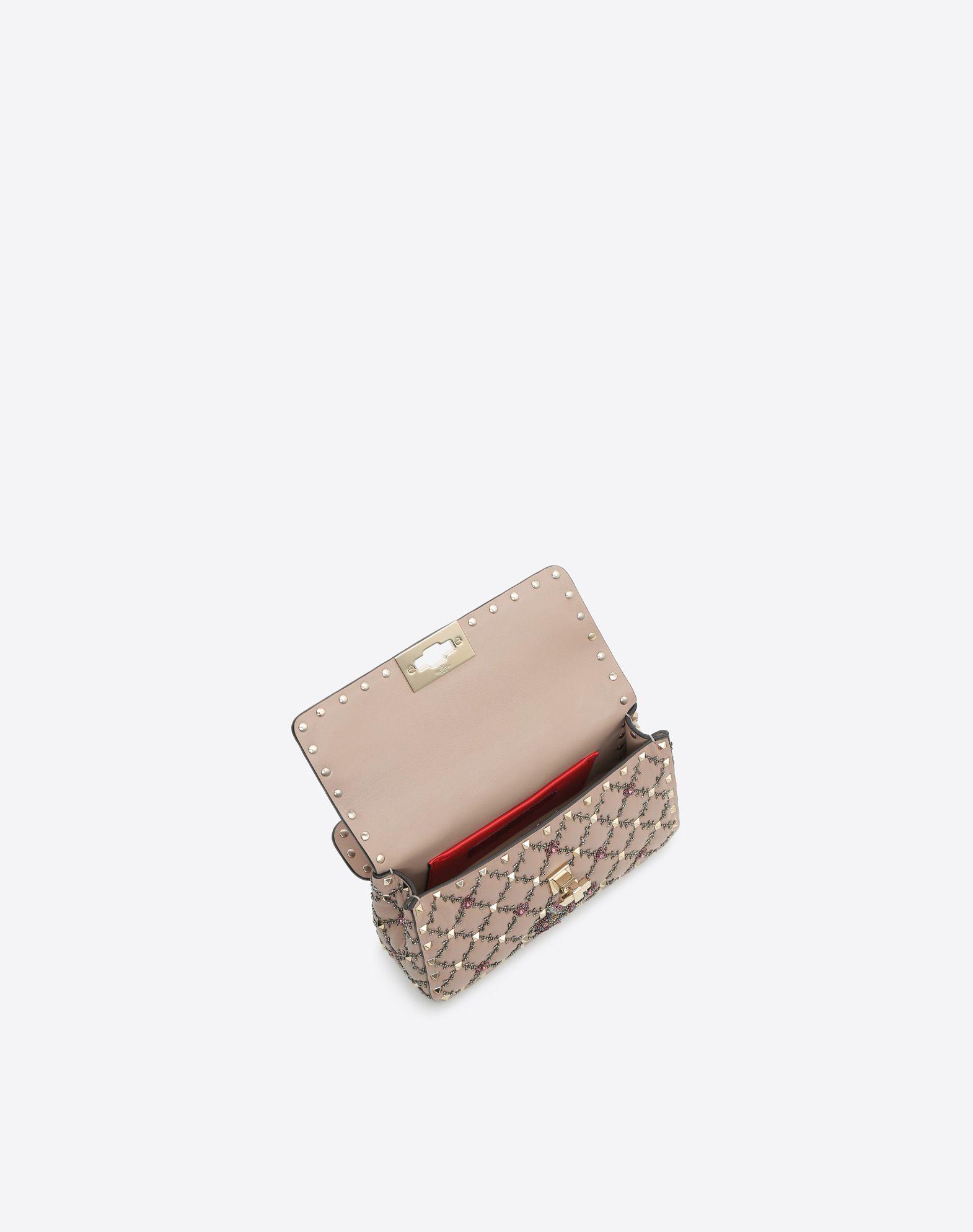 VALENTINO GARAVANI Small Rockstud Spike.It Chain Bag  Shoulder bag D e