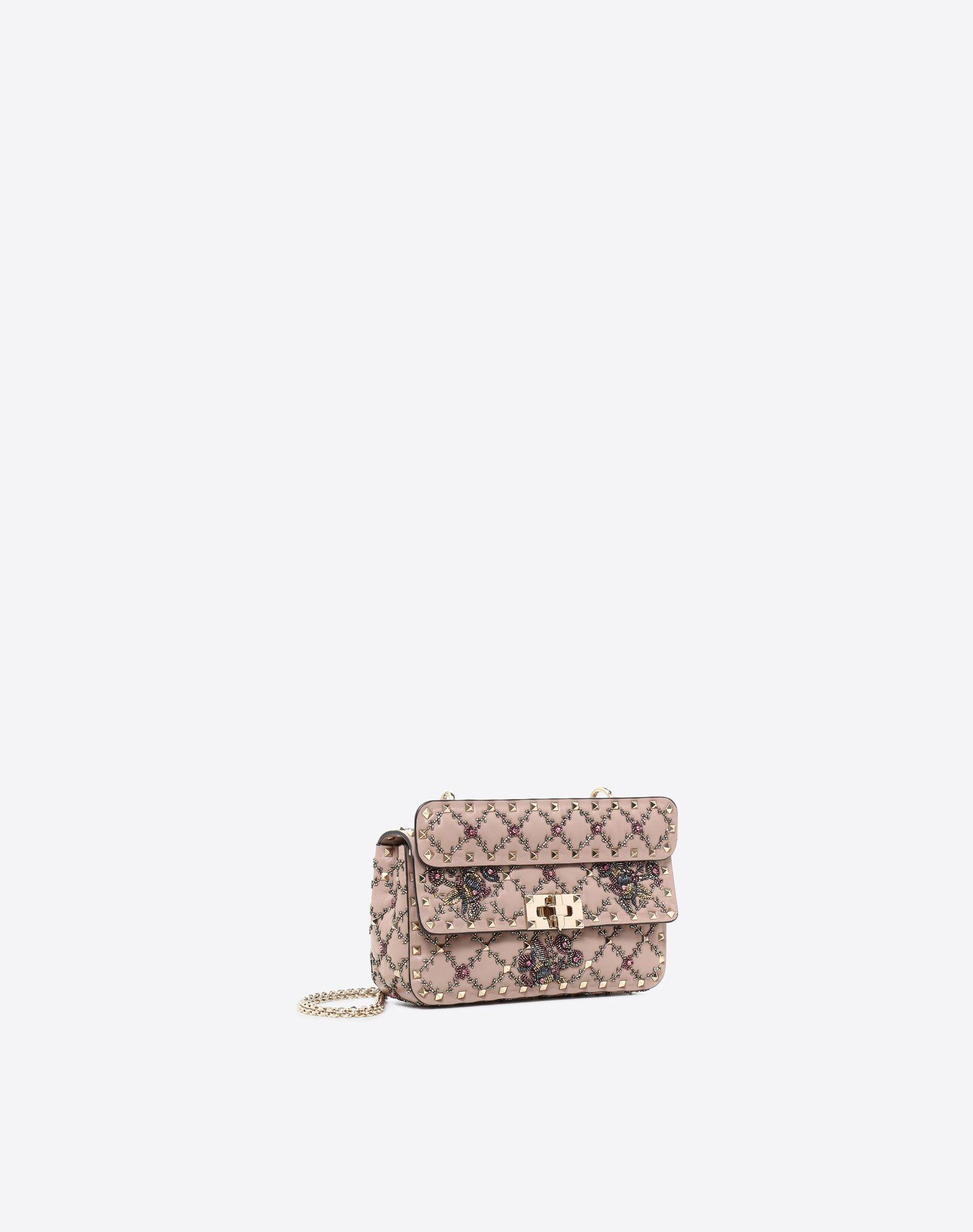 VALENTINO GARAVANI Small Rockstud Spike.It Chain Bag  Shoulder bag D r