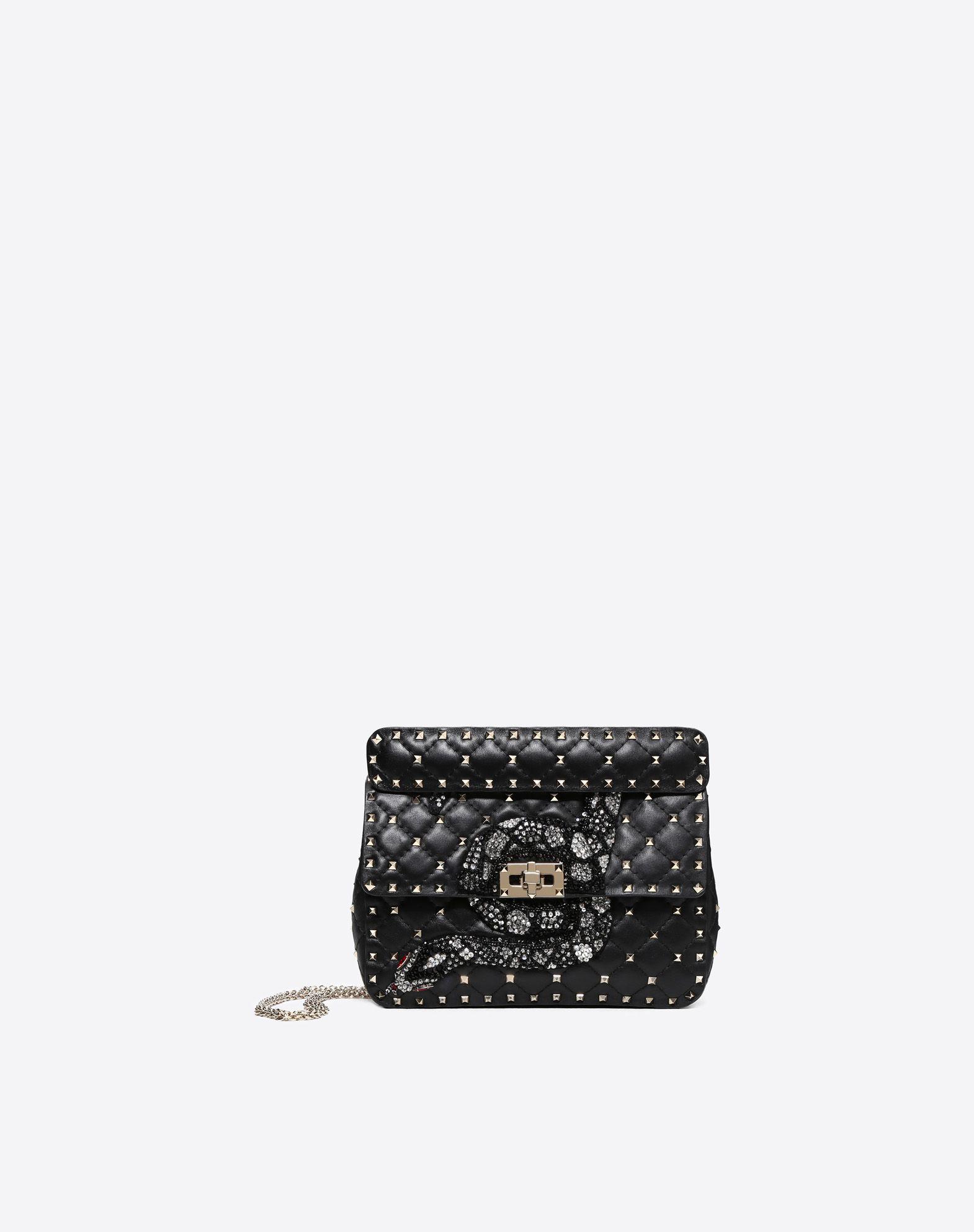VALENTINO GARAVANI Medium Rockstud Spike Chain Bag  Shoulder bag D f