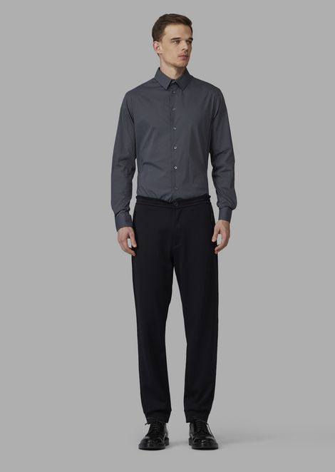 Pantalones deportivos de jacquard doble con diseño con efecto de malla