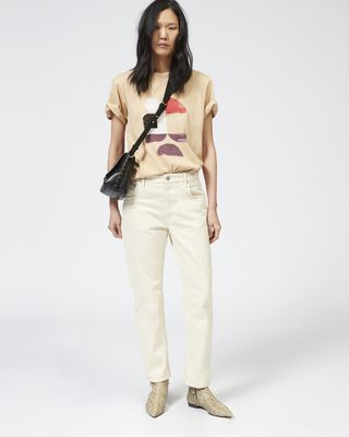 ISABEL MARANT ÉTOILE JEANS Woman FLIFF colored denim pants r